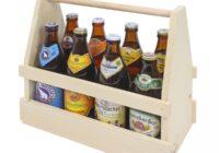 Achterträger aus Holz für Bierflaschen